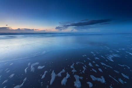 north holland: dusk on North sea coast, North Holland, Netherlands