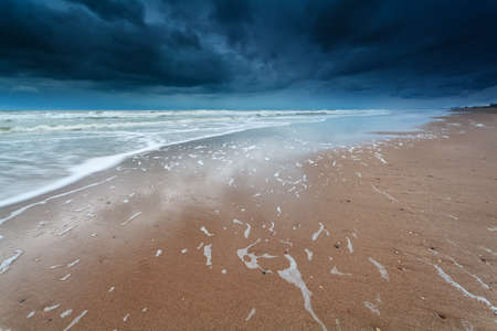 north holland: storm on North sea coast North Holland Netherlands Stock Photo