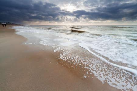 Nordseestrand, Zandvoort, Niederlande Standard-Bild