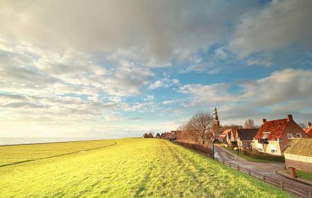 Hindeloopen coastal view and sunshine, Friesland, Netherlands