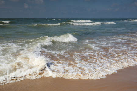 beautiful beach on North sea during sunny summer day