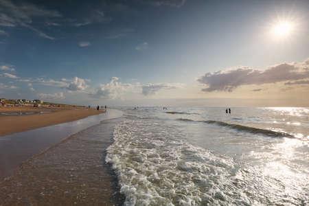 beautiful view on sea beach in sunshine during summertime Banco de Imagens