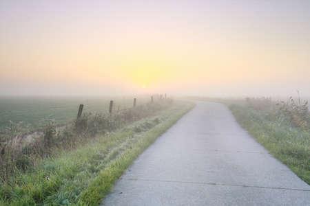 road to sun at sunrise, Holland