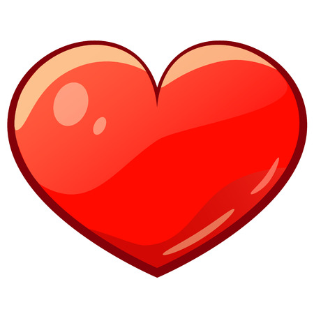 geïsoleerde valentijn cartoon tekening hart