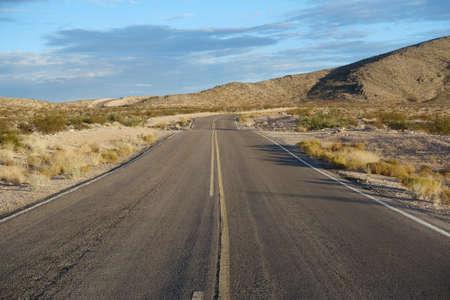 nevada: Empty road in the Nevada desert Stock Photo