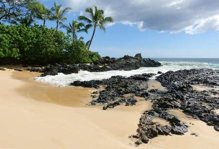 Paako beach, aka secret beach, on the island of Maui, Hawaii