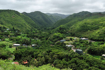 Maui Small town in a green valley, Hawaii
