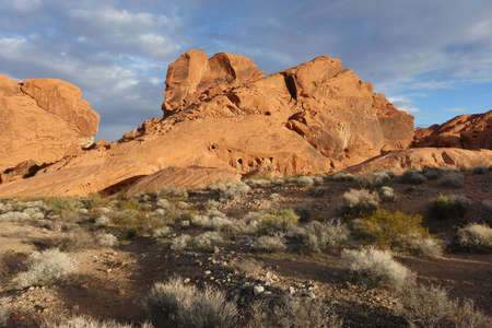 Landscapes at sunset in Valley of Fire State Park, Nevada, USA