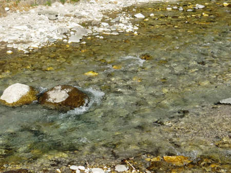clearness: Chilly but clear, the mountain water