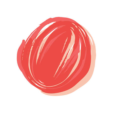 Pink, red round button painted with a brush. Vector hand-painted ink BLOB. Hand drawn grunge circle. Graphic design element for web, corporate identity, postcards, engravings, etc. Vector illustration Stockfoto - 129820179