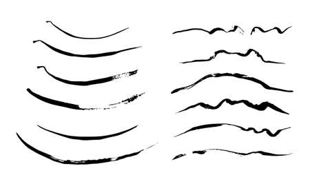 Sketch lines. Pencil textured doodle freehand line strokes chalk scribble black ink line isolated vector set. Illustration of freehand line stripe, graphite drawing creativity