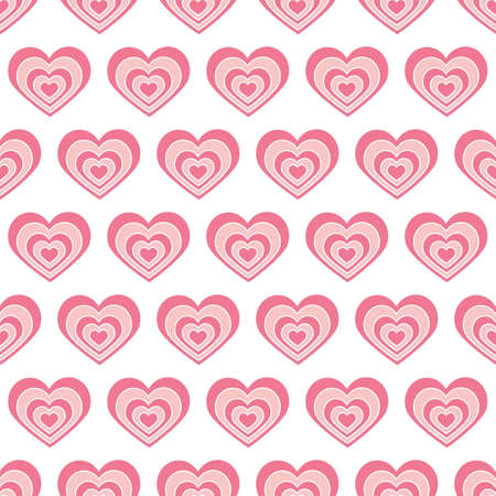 Seamless pattern red heart in vector. Background for holiday lovers, Valentine s day, romantic, wedding. Concept of love.