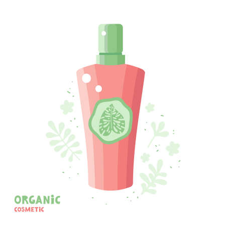 Cosmetics from plants and herbs. Natural herbal organic cosmetic. Lotion, hygiene gel, soap, balm or shampoo. Skin care product. Ecological beauty products. Body, hair and face care. Spa eco cosmetics