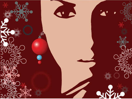 christmas beautiful girl with earing photo