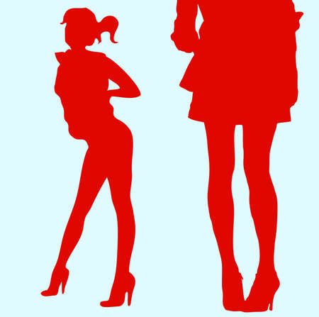 beautiful body, legs and clothes Vector