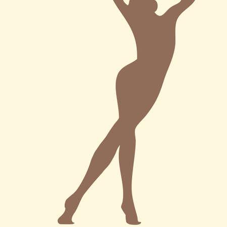 beautiful skin woman silhouette Vector