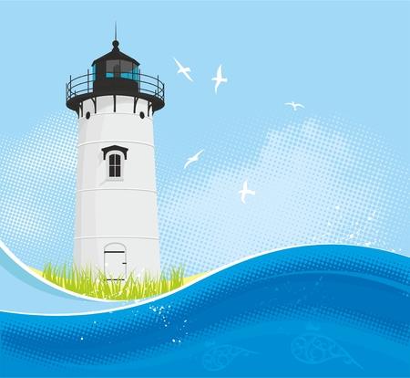 martha: Lighthouse summer background