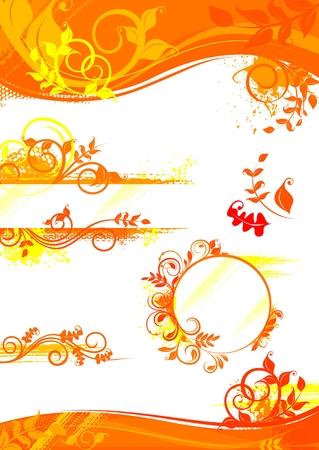heading the ball: Autumn set of design elements