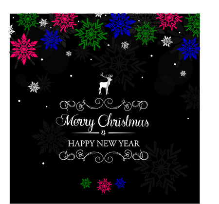 Colourful Christmas greeting