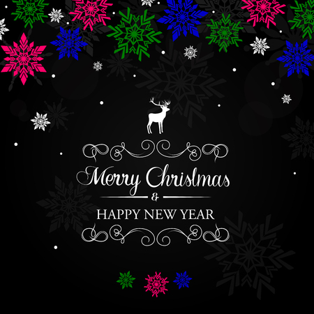 Colourful Christmas greeting