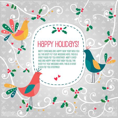 childishness: Birds Christmas banner