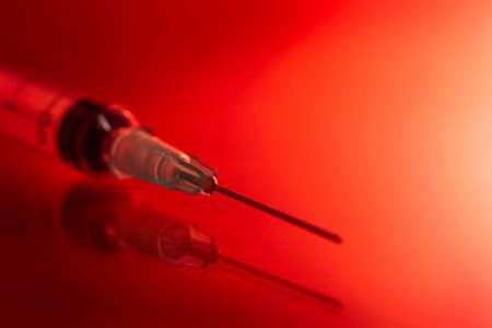 rad: syringe on rad background