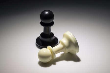 chess pawns, black and white 免版税图像