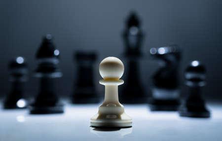 alone pawn 免版税图像