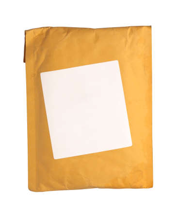 Yellow Envelope white background, isolated