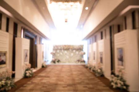 Wedding arch indoor blur 免版税图像