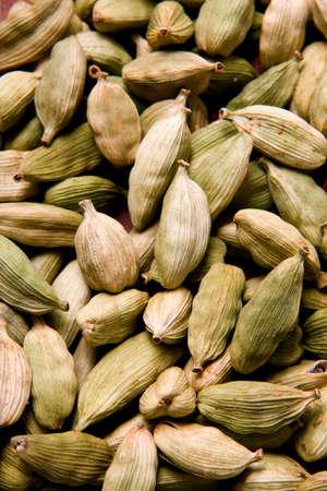 potherb: Las semillas de cardamomo  Foto de archivo