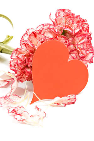 Carnation bouquet and Valentine Card