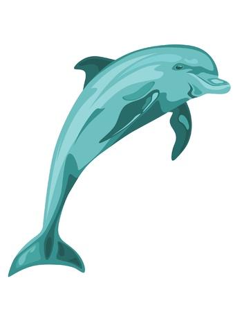 Delfín saltando de vectores
