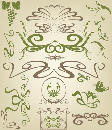 art nouveau: Elementi di design Art Nouveau
