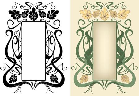 artes plasticas: marco floral de estilo vintage Vectores
