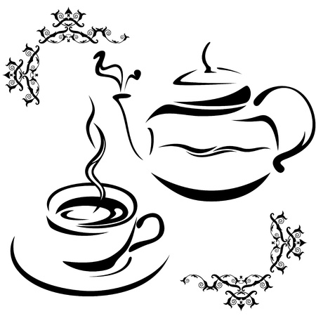 teapot and cup Stock Vector - 10238999