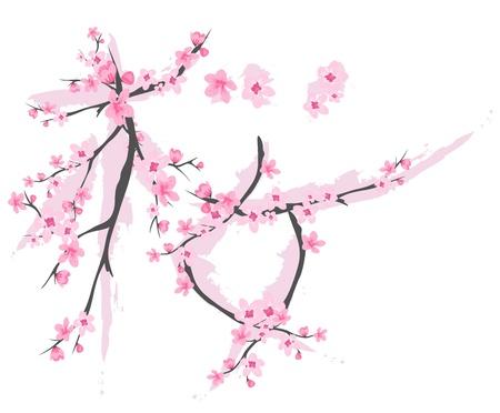 tierno: Jerogl�fico japonesa significa sakura hechas de ramas florecientes