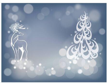 harmonious: blue bokeh Christmas background