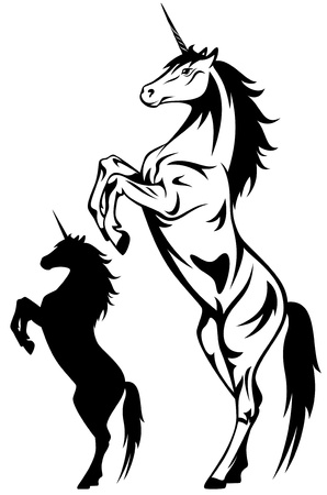 beautiful unicorn illustration Vector