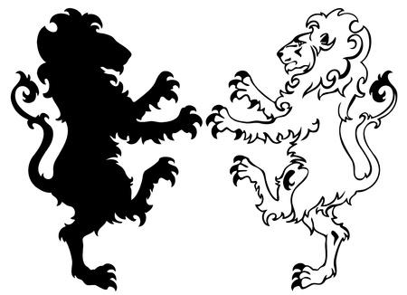 heraldic symbols: heraldic lion illustration