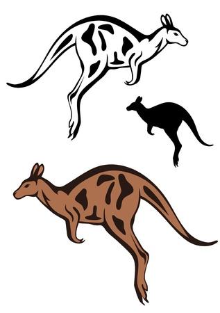 jumping kangaroo vector Vector