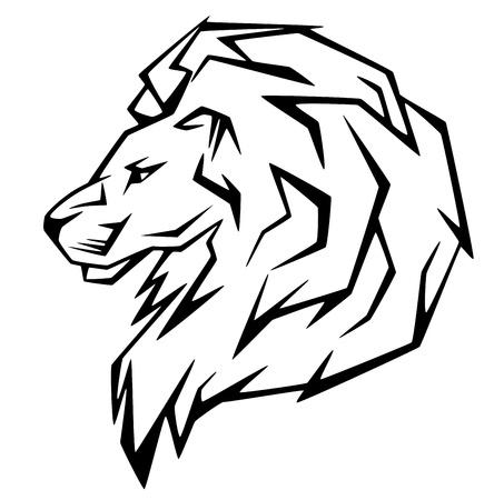 lion head vector illustration Stock Vector - 10628475