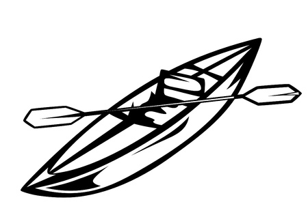 kayaking: canoe vector illustration