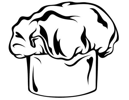 confectioner: chef`s hat vector illustration Illustration