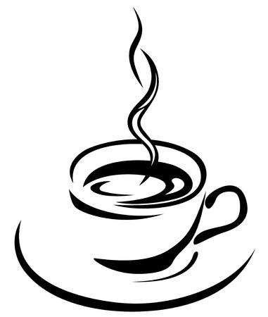 コーヒーカップ: コーヒー カップの図  イラスト・ベクター素材