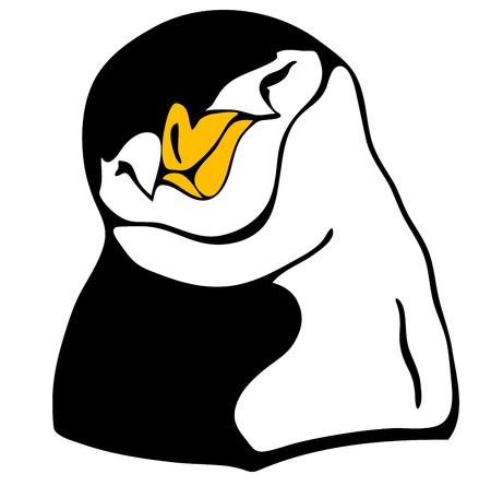 funny penguin Stock Vector - 10667478