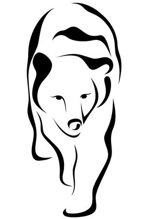 oso negro: ilustración vectorial de oso
