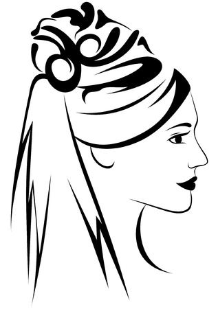 bride vector illustration Stock Vector - 10764355