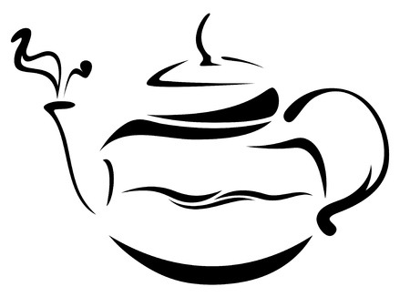 boiling water: teapot