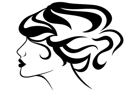 perfect hair style Vector